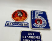 Patches, Rhode Island camp patches, jamboree patches 1970s, vintage seventies