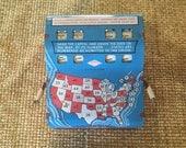 Game, Quiz Game, Vintage Capital State Quiz, 48 State Version, quiz game, home school