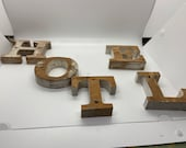 Letters, Wooden Letters, Vintage letters that spell a number of things including hotel urge