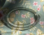 heavy glass tray, thick pressed glass, well made glass tray, Vintage pressed glass, Jewelry tray