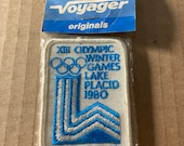 Patch, Olympics, XIII Winter Olympics, Lake Placid, Voyager Originals