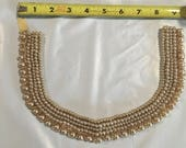 Collar pearls, Vintage Pearl collar, Pearls and cloth backing