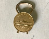 Ocean liner key ring Inches Line MS Victoria