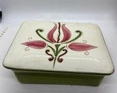 Stangl, lidded box, cigarette box, stangl pottery, vintage New Jersey