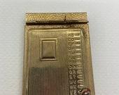 address book, vintage metal book, gold colored, pocket sized