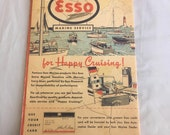 Map, maritime Esso boating map, NY Harbor to Savannah by Esso Marine Service division