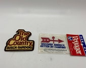 Patches, Vintage assorted patches from the seventies unused new old stock