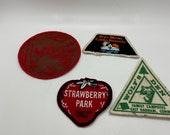 Patches, Connecticut cloth patches, camping from vintage seventies