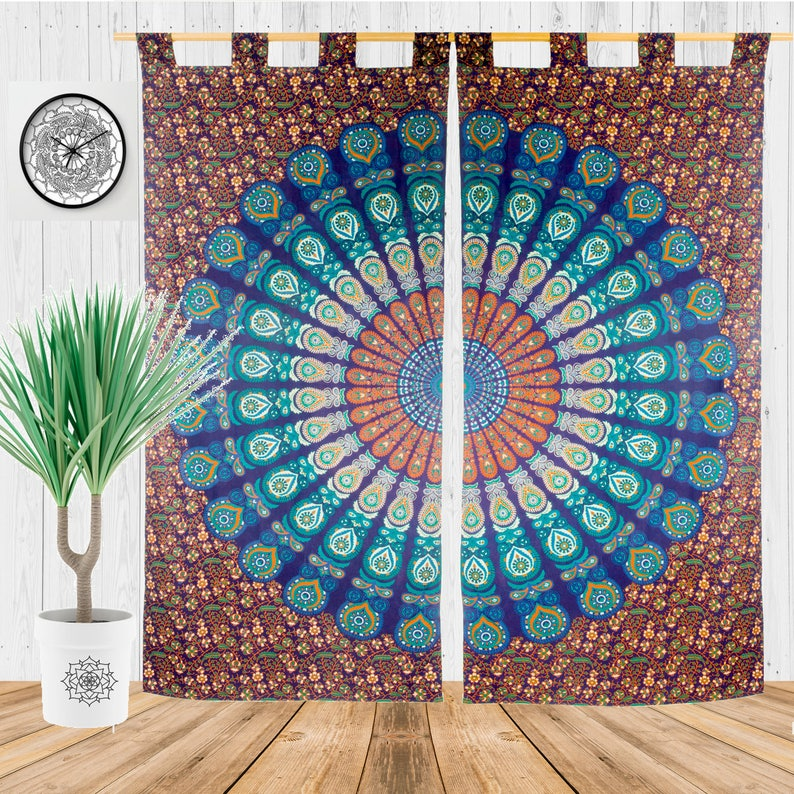 Gypsy Curtains Bedroom Curtains Hippie Bohemian Curtains Bohemian Chic Tapestry Bedroom Decor