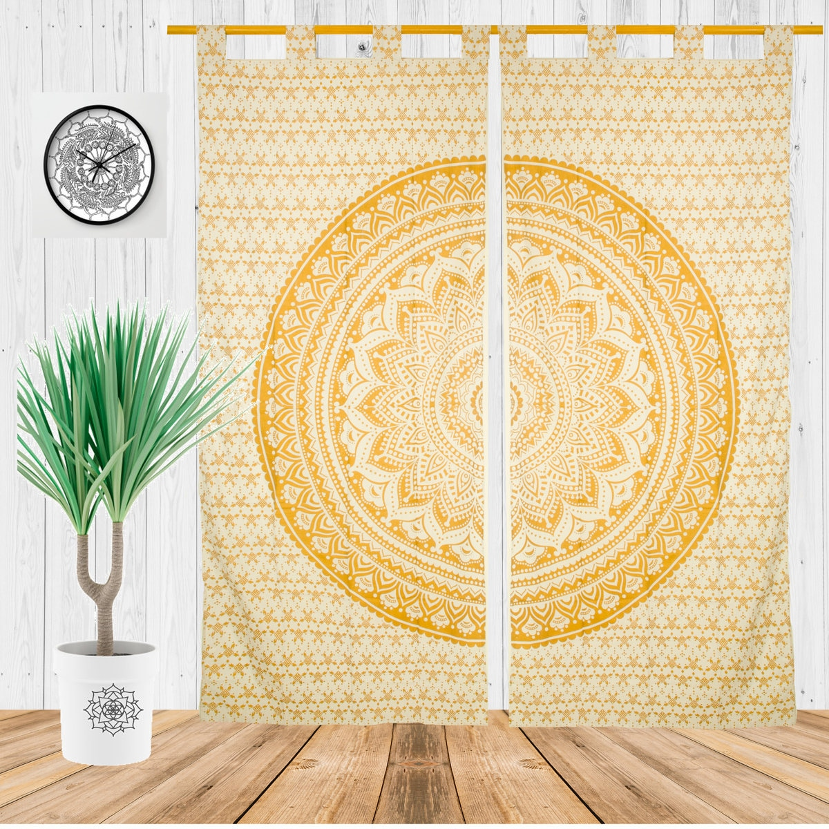 Boho Curtains For Living Room Bohemian Window Treatment