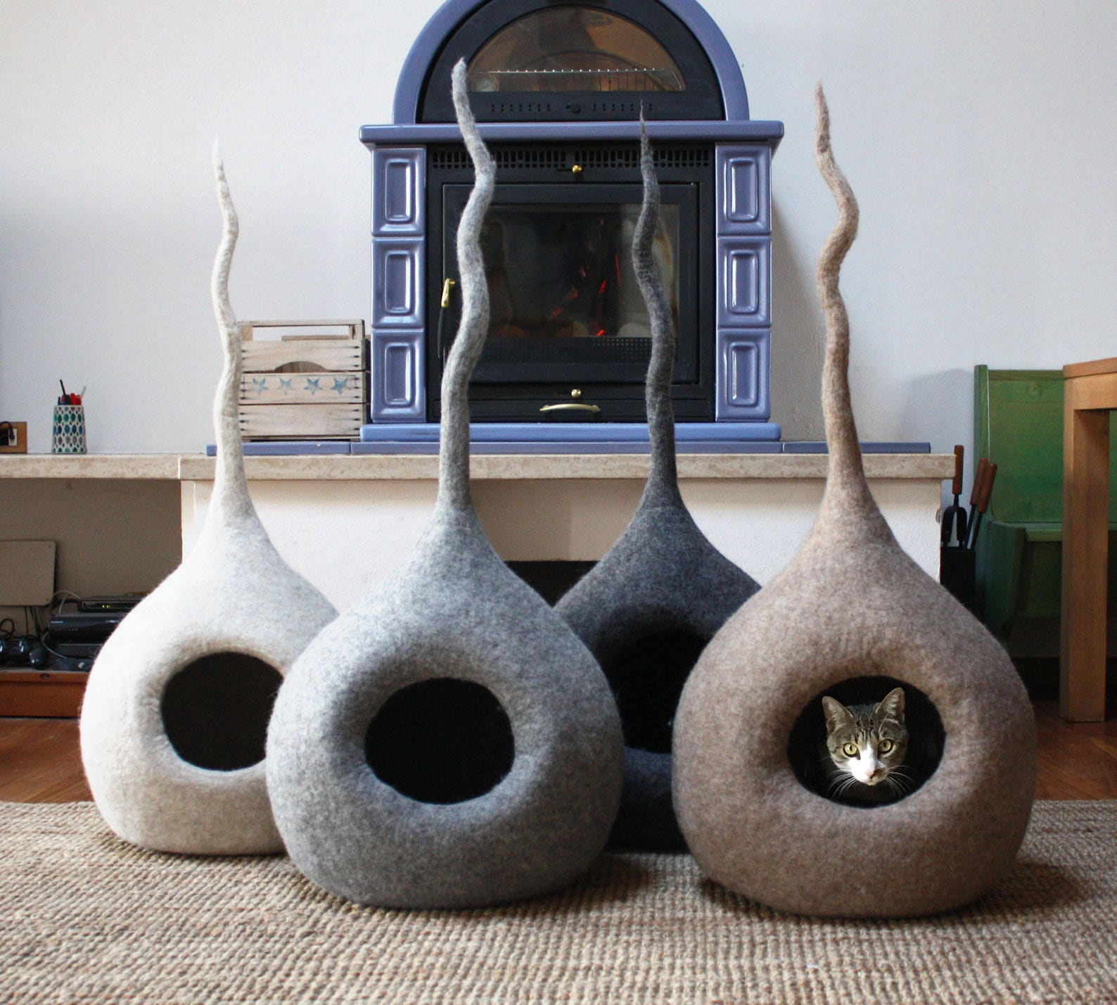 Felt Wool Cat Cave