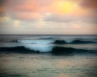 Kauai Dreaming, 3Butterflies Photography, ocean, Hawaii, Kauai, Hawaiian beach, high surf, ocean waves, blue, water, orange