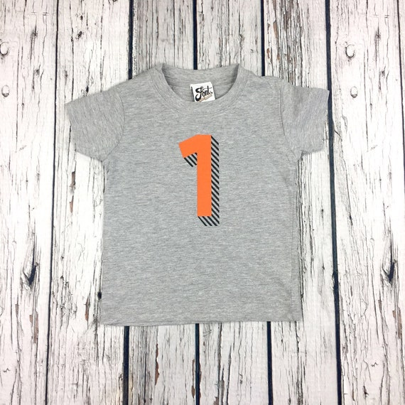 06b379cf Kids Number T-Shirts. Personalise Birthday/Age of Child. Any | Etsy