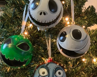 Nightmare Before Christmas Christbaumkugeln.Nightmare Before Christmas Baubles Etsy