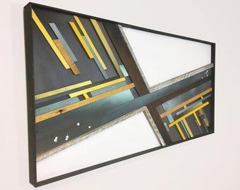 Mixed Media Wood Wall Art – 24 x 48