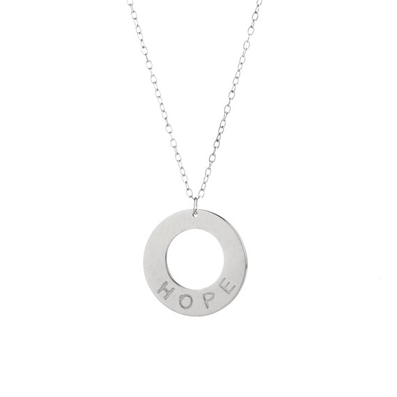 Hope Chain Ring Silver