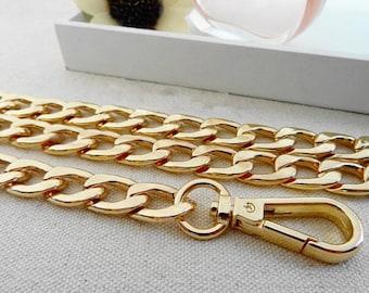 DIY Top Grade 10mm Width Silver Flat Metal Iron Chains Handbag Chains Handbag Accessories Purse Handles Clutch Straps 51.2 Inches