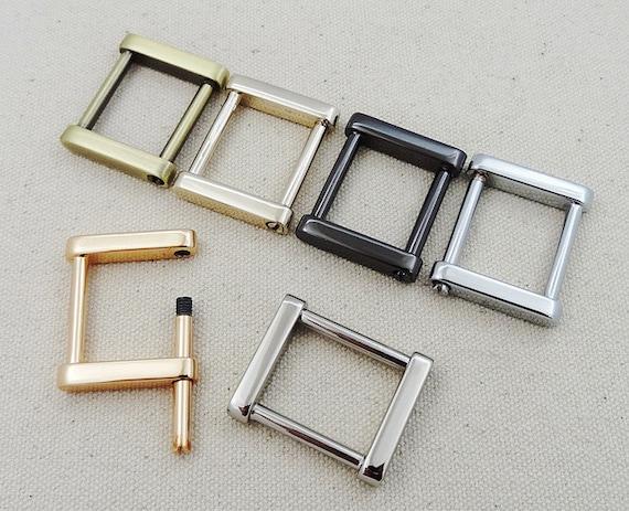 GürtelschnalleSchraubverbindung Platz HakenKette 5pcs Gold Riemen HardwareRivet Geldbörse Handtasche RingeAbnehmbaren Schnalle H9IED2