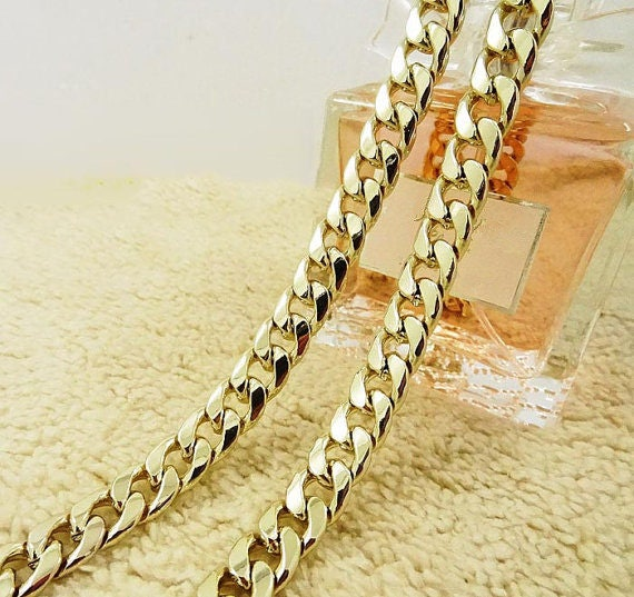 80cm//31.5, Gold 12mm Big DIY Purse Shoulder Crossbody Metal Chain Strap Replacement for Bags Handbags