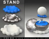 "CLOUD STAND to the ""Earth Planet Ring Box"" engagement, proposal, wedding, marriage, matrimony, bridal, nuptials, espousal, case, jewel, dish"
