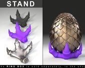 "STAND for Dragon Egg Game of Thrones ""style"" Ring Box - proposal ring box, engagement ring box, ring case, wedding, marriage, geek, geeky"