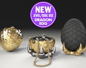 "Dragon Egg Game of Thrones ""style"" Ring Box - proposal ring box, engagement ring box, case, wedding, marriage, geeky, geek, fantasy, geekery"