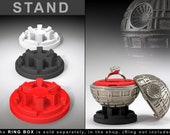 STAND for Black Star Ring Box - proposal ring box, engagement ring box, geek ring, geeky, nerd, sci-fi wars, death spaceship, case, wedding