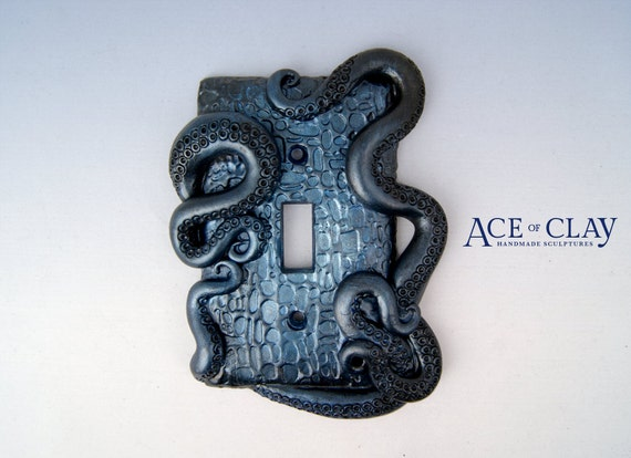 Midnight Blue Octopus Tentacle Light Switch
