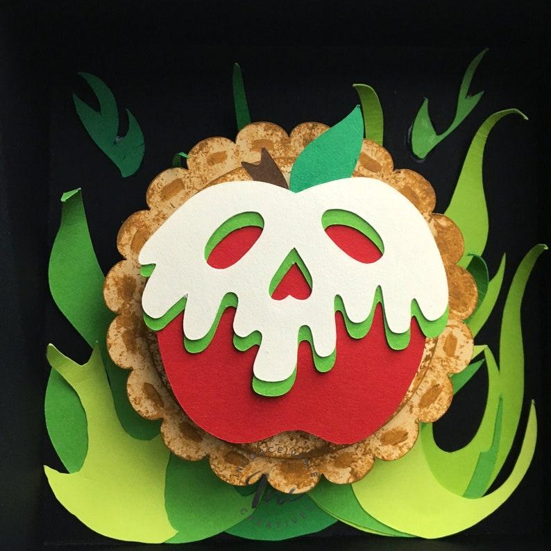 Evil Queen Apple Pies Mini Framed 5x5 Snow White Poisoned image 0
