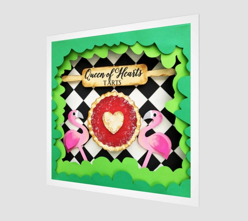 Queen of Hearts Tarts Fine Art Print Alice in Wonderland image 0