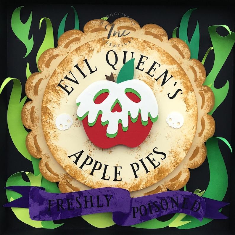 Evil Queen Apple Pies Framed 9x9 Snow White Poisoned Apple image 0