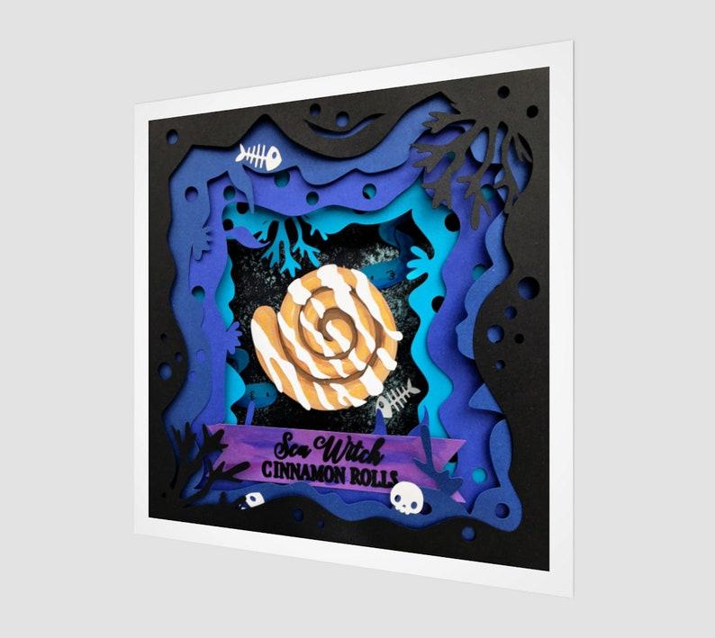 Sea Witch Cinnamon Rolls Fine Art Print The Little Mermaid image 0