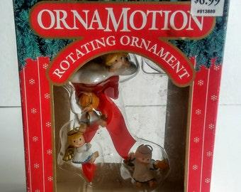 Vintage Ornament - Angel Ornament - Christmas Ornament - Christmas Gift - Vintage Angel - Stocking Stuffer - Rotating Angels - Holiday Decor