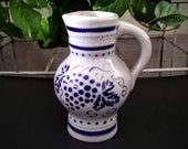 Stoneware Pitcher - Salt Glazed Pottery - Ceramic Wine Pitcher - German Ceramic Vase