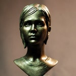 Custom Sculpted Inspired by ELLIE The Last of Us Faux Bronze Resin Bust Figure Figurine | 5.79 inches | 14.7 cm