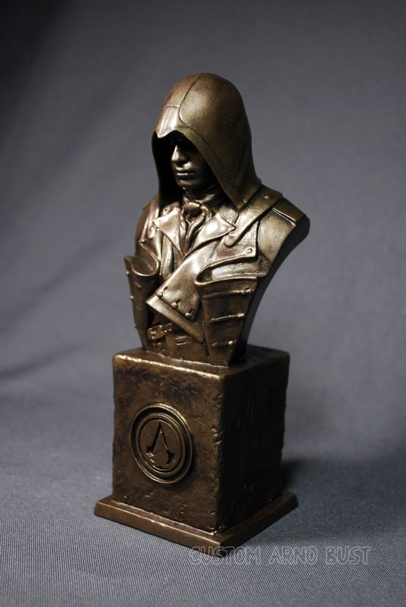Custom Sculpted Fan Art Arno Assassin S Creed Faux Bronze Etsy