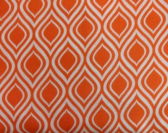 Metro Living fabric. Orange flames modern abstract fire quilters cotton quilting Robert Kaufman 4525