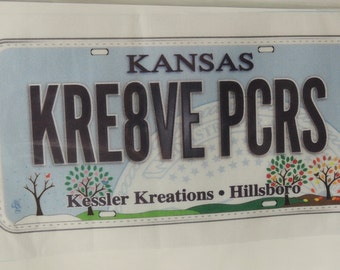 Row by Row License Plate Hillsboro Kansas Kessler Kreations Creative Piecers KRE8VE PCRS