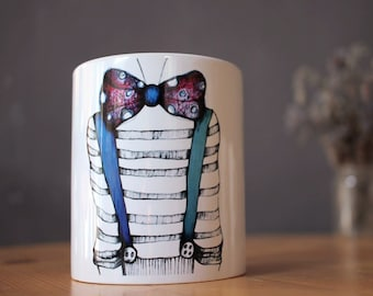 Anniversary gift - Personalized gift for man - Art mug - Design mug - Man gift - Coffee mug - Coffee lover - Gift for artist - Art lover