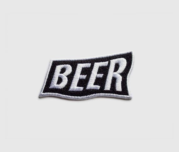 BEER iron on patch