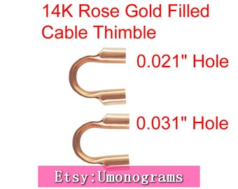 "14 k GOLD FILLED WIRE GUARD LARGE HOLE .045/"" Pkg. Of 50 Made In USA"