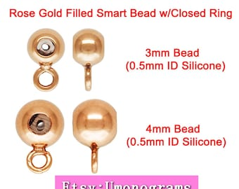 Made in USA #4004840I 14k gold filled 4.0mm Smart Bead 2.0mm Hole 1.5mm Fit