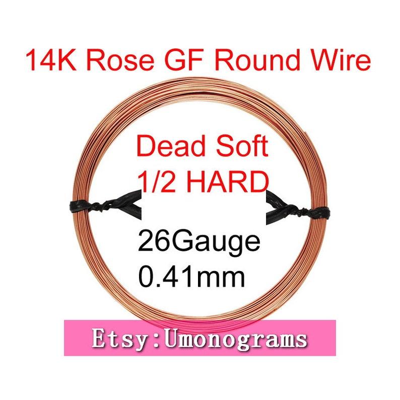 14K Rose Gold Filled 26 Gauge .016 0.41mm Dead Soft  Half Hard Round Wire Wholesale BULK DIY Jewelry Findings 120 14kt RGF