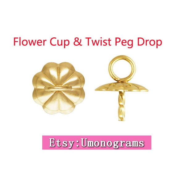 gold Cup and twist Peg 4mm wholesale 14K gold filled Cup /& Peg Drop 10Pcs 5mm Cup and Twisted Peg 14k gold filled 5 pairs