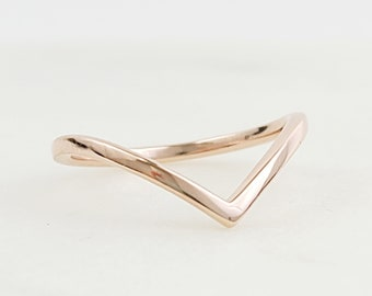 Solid 10k Gold Thin Midi Stacking Ring Dainty 10k Rose Gold Minimalist Stackable Rings Delicate Ring Smooth Polish /& Shiny Finish