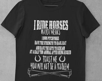 Horse Riding Shirt, Equestrian Shirt, Horse Lover Shirt - CS136 Classic Adult T-Shirt