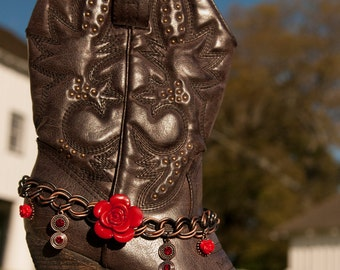 Scarlet Rose Boot Bling by Redneck Couture ~ Boot Jewelry ~ Boot Accessories