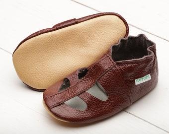 Dark Brown Baby Shoes a3e58567f