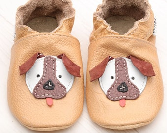 fc312980e5e Leather Baby Shoes Soft Sole Toddler Shoes Handmade by EVTODI