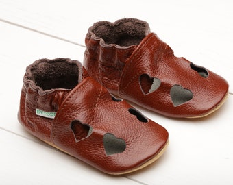 fcd2fa26b5c0 Glossy Brown Baby Shoes